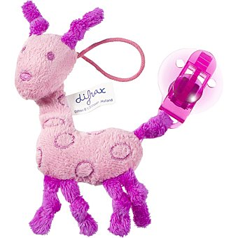 Difrax Cadena para chupete jirafa rosa 1 Unidad