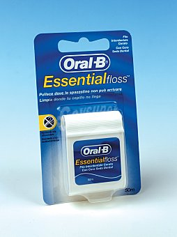 Oral-B Seda Dental Essencial Floss cera/menta 50 metros.