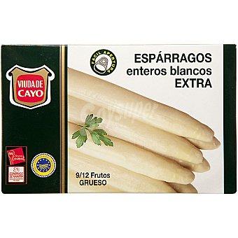 Viuda de Cayo Espárragos blancos enteros extra D.O. Navarra 8-12 piezas Lata 220 g neto escurrido
