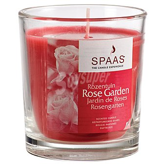 SPAAS Vela Perfumada en vaso de cristal transparente aroma Rosa