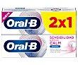 Pasta de dientes con acción protectora de encías y sensibilidad dental 2 x 75 ml ORAL-B CALM