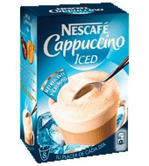 Nescafé Cappuccino iced Caja de 8 sobres.
