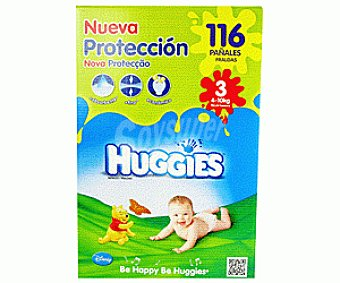 Huggies Pañal Superjumbo Talla 3 Paquete 116 unid