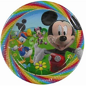 DISNEY plato cartón Mickey Colours 23 cm  paquete 10 unidades