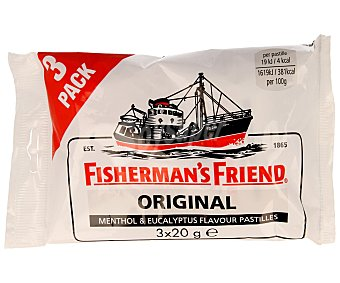 Fisherman´s Friend Extra fuerte chicles original Pack 3 x 20 g