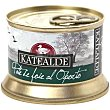 Paté de foie al Oporto 35% foie Lata 130 g Katealde