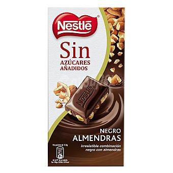 Nestlé Chocolate negro con almendras partidas sin azúcares añadidos Tableta 125 g