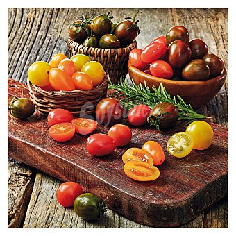 Tomate cherry cebra granel Bandeja de 1000.0 g.