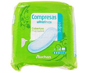 Auchan Compresas Ultrafinas Super 14 Unidades