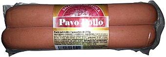Hacendado Salchicha pavo/pollo grandes 2 u Pack 2 x 200 g - 400 g