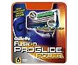 Recambio de cuchillas de 5 hojas para maquinilla de afeitar Gillette Fusion Proglide 6 unidades Gillette