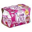 Yogur líquido L casei desnatado fresa 6 unidades de 100 g (600 g) Hacendado