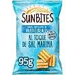 Snacks ondulados multicereales, con sabor sal marina 95 g Sunbites