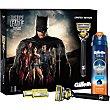 Pack Liga de la Justicia Batman con maquinilla + 3 recambios + gel de afeitar Sensitive  estuche 1 unidad Gillette Fusion Proglide