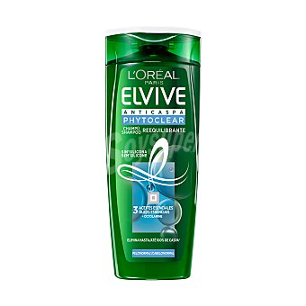 Elvive L'Oréal Paris Champú anticaspa phytoclear cabello normal Bote 370 ml