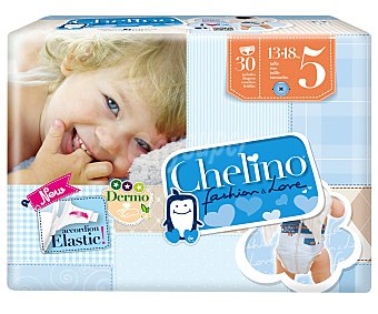 Chelino Pañales talla 5 para bebés de 13 a 18 kilogr 30 uds