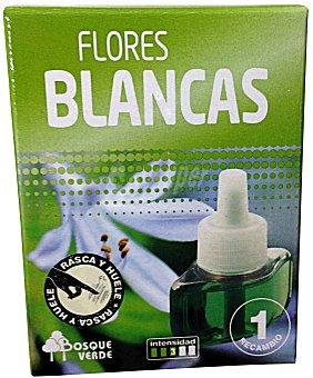 Bosque Verde Ambientador eléctrico recambio flores blancas u 25 cc