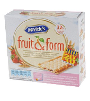 McVities Barrita galleta fruit form fresa y yogur 213 g