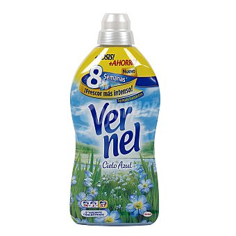 Vernel Suavizante concentrado cielo azul Botella 54 dosis