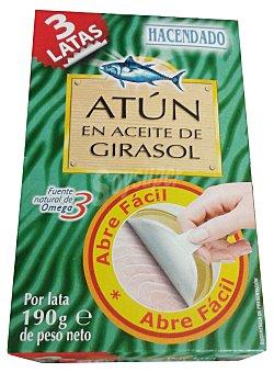 Hacendado Atun en aceite vegetal (abre facil solapin) U x 190 g