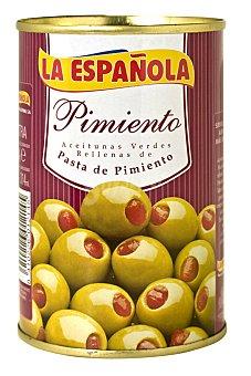 La Española Aceitunas rellenas de pimiento Lata 130 g neto escurrido