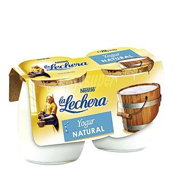 La Lechera Nestlé Yogur natural tarro cristal Pack 2x125 g
