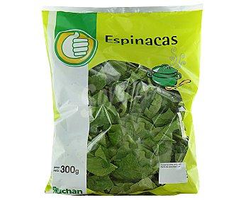 Productos Económicos Alcampo Espinacas troceadas Bolsa de 300 gramos