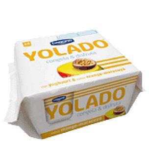 Yolado Danone Yogur helado de Mango y Maracuyá Danone pack de 4x75 g