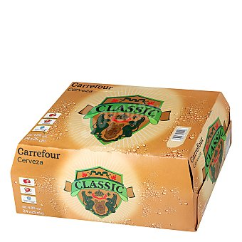 Carrefour Cerveza Lager Pack de 24 botellas de 25 cl