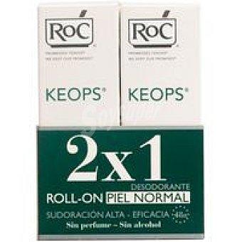 RoC Desodorante Keops piel normal en roll on pack 2x30 g