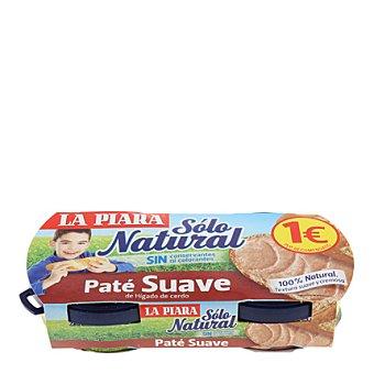 La Piara Paté suave de hígado de cerdo Sólo Natural Pack de 2x75 g