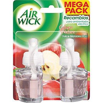Air Wick Ambientador eléctrico dulce manzana roja recambio 2 unidades