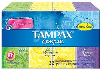 Tampax Tampones compak multipack Pack 32 un