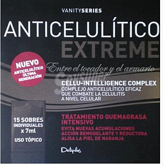 Deliplus Crema corporal anticelulitica vanity extreme Caja 15 monodosis