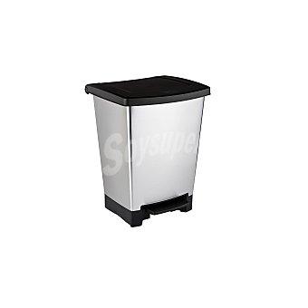 Curver Cubo de basura de Plástico 2 en 1 25 Litros negro/gris 25 Litros