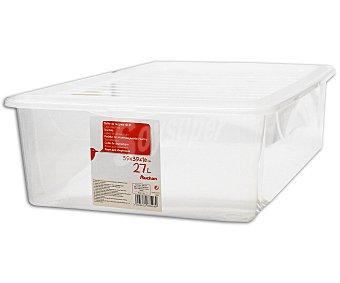 AUCHAN Bajo cama multiusos con capacidad de 27 litros y fabricado en plástico transparente 1 Unidad