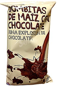 Hacendado Aperitivo bombitas de maíz chocolate Paquete 100 g