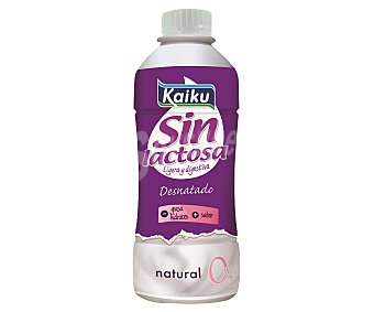 Kaiku Sin Lactosa Yogur líquido natural sin lactosa 0% M.G Envase 750 ml