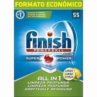 Finish Lavavajillas pastillas limón Caja 55 dosis