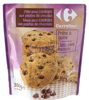 Carrefour Masa para cookies con pepitas de chocolate 350 g