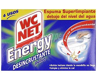 WC Net Limpiador energy polvo activo Paquete 4 unidades