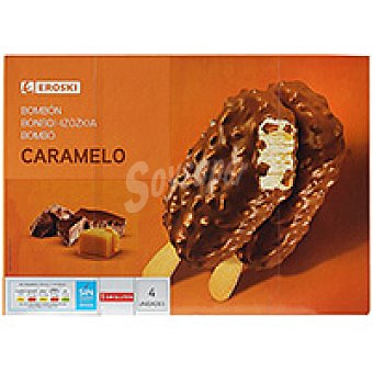 Eroski Bombones caramelo choco Pack 4x90 ml