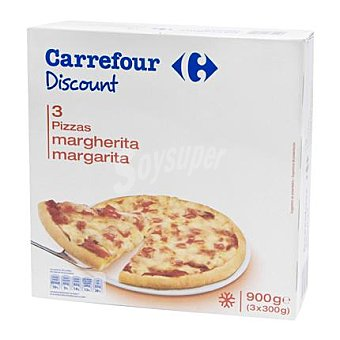 Carrefour Pizza Margarita Pack 3x300 g
