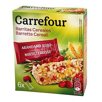 Carrefour Barritas de muesli con arándanos 150 g
