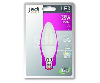 JEDI Bombilla led vela 4 Wattios, casquillo E14 (fino), luz cálida 1 unidad