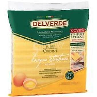 DELVERDE Lasaña al huevo Paquete 500 g
