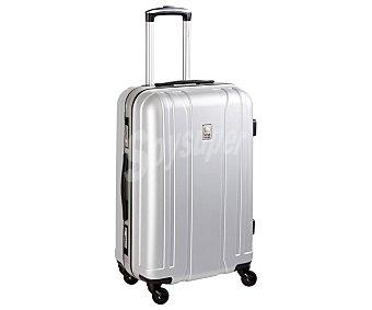 Visa Maleta rígida mediana con bastidor, color plata, con 4 ruedas, 65 cm, 80 litros, cierre con llave delsey delsey Aerobis