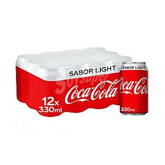 Coca-Cola Light Refresco de cola light Pack 12 latas x 33 cl