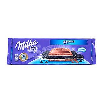 Milka Chocolate con leche relleno de galleta Oreo Tableta 300 gr
