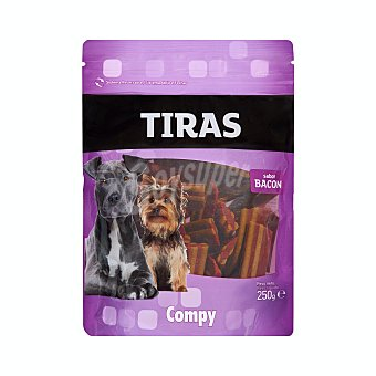 Compy Comida perro snack tira de bacon adulto Paquete 250 g